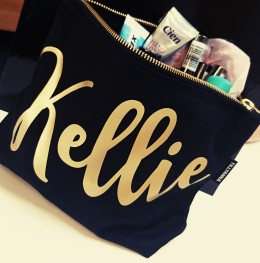 My fabulously personalised beauty bag!