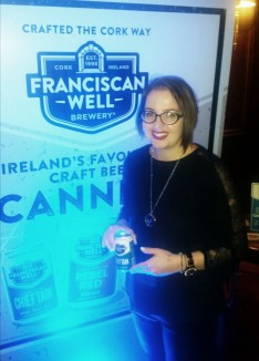 Kellie Burch getting 'canned' at the Franciscan Well can launch